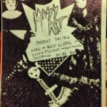 flyer from concert at Massachusetts College of Art, Boston, MA